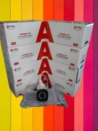 Câmera AHD na caixa com manual