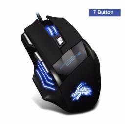 Mouse Para Jogo Gamer Pro Usb Led 5500dpi 7 Botões