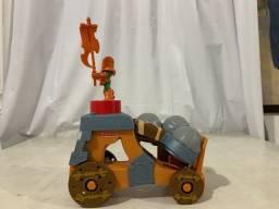 Brinquedo Catapulta Veículo de Ataque + Cavaleiro- Imaginext Medieval