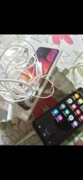 Smartphone Samsung A50 com todos os acessórios