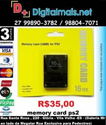 Promoção Memory Card 16Mb Para Playstation 2 Ps2