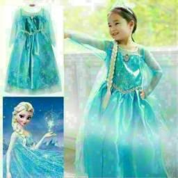 Vestido fantasia infantil Elsa Frozen entrega gratuita em toda baixada
