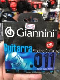 011 cordas para guitarra Encordoamento Giannini