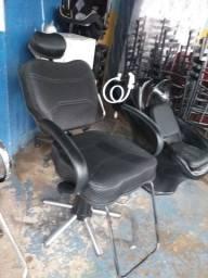 Cadeira hidlalica reclinável de barbeiro