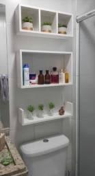 Kit nichos para banheiro 03 pças 100% MDF