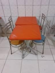 Conjunto de mesa e caldeira