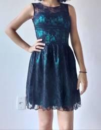 Vestido de festa preto com Renda Tam P
