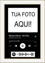Quadro Interativo Spotify Digital - Personalize do teu jeito
