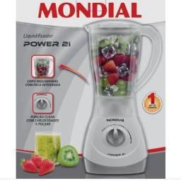 Liquidificador Mondial Power 2i NL-26 500W Branco Cinza 110V Novo, nunca usado garantia