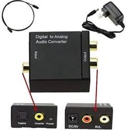 COD:0152 Conversor Adaptador De Áudio Digital Para Analógico