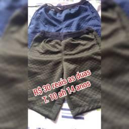 Calça jeans ?camisas e bermudas
