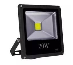 COD:0111 Refletor Holofote Led 20w Branco Frio Prova D'água Bivolt
