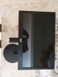 "Monitor AOC 15.6"" Widescreen, LED, HD (1366 x 768), VGA, Preto."