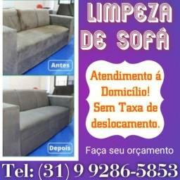 Higienização de sofá