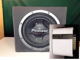 "Caixa Subwoofer Pioneer 12"" 400W + Módulo Stetsom 500w"