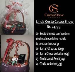 Cesta Cacau Show Chocolates Trufas