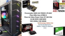PC Gamer A10 7850K 16GB R7 360 2Gb + Kit Gamer !!!