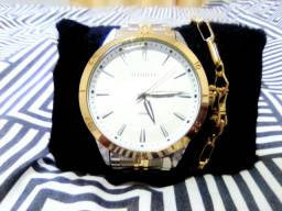 Relógio Atlantis original+ pulseira banhada ouro 18k?
