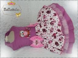 Vestido Corujinha - Moda Pet