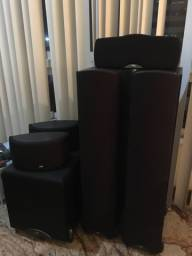 Home Theater 05 caixas Klipsh F100 + Subwoofer + Onkyo