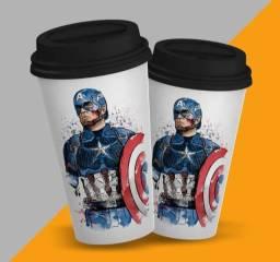 Copo Starbucks Capitão América