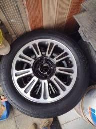 Título do anúncio: Rodas aro 15 4x100 e pneus 195