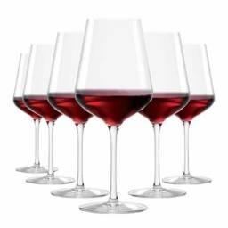 6 Taças de Vinho tinto cristal ruvolo 540 ml