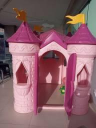 Castelo de princesa da Disney , brinquedo infantil.