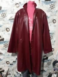 casaco couro fake tam GG veste 48 25,00