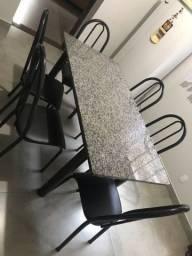 Mesa granito com 6 cadeiras