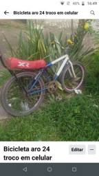 Título do anúncio: Bicicleta aro 24 troco em celular