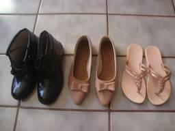 Sapato, sandália e bota feminina tudo por R$ 50,00
