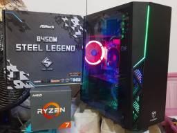 CPU gamer processador ryzen 7 placa-mãe b450 m asrock memória 3000 MHz