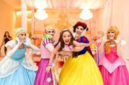 Personagens Vivos Princesas Disney Animação Infantil