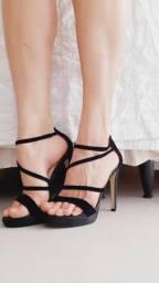 Sandália salto preta A.brand