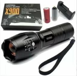 COD:0100 Lanterna Tática Profissional Luz Led Alta Luminosidade X900