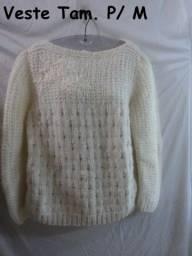 Blusa Lã (Crochê/Trico)