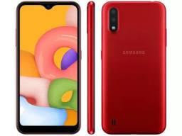 Samsung A01 32GB Vermelho, Lacrado, Garantia