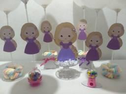Kit centro mesa Rapunzel (kit festa)