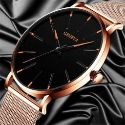 Relógio Analógico Rose Gold Unisex novo com garantia