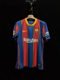 Camisa Barcelona Home 20/21 - Entrega Grátis em Natal e Parnamirim