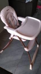 Cadeira alimentação Rosé Gold Burigotto