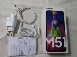 Samsung M51 com Caixa e NF