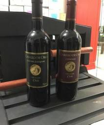 Vinho Chileno Caballo De Oro 6 garrafas com Frete grátis