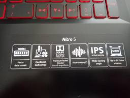 "Notebook Acer Nitro 5 - Core I5 7 Ger, 12 Gb Ram, 1 Tb + Ssd e Gtx 1050 TI - Full Hd 15,6"""