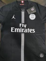 d360ec3829d09 Camisa PSG preta edição especial Michael Jordan
