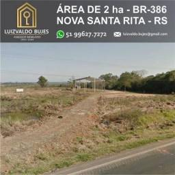 Terreno de 20.418,27 m² em Nova Santa Rita BR-386