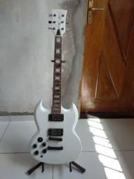 Guitarra exclusiva feita por lutier