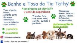 Banho e tosa em sua casa em alguns bairros do Rio para cães e gatos