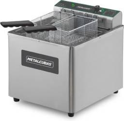 Fritadeira elétrica industrial 15 litros zona fria - lucas